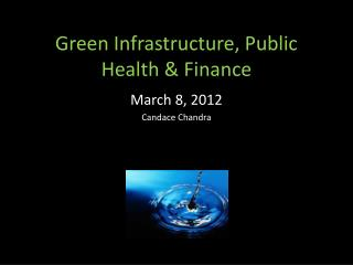 Green Infrastructure, Public Health
