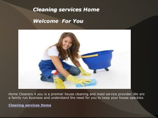 Cleaning services Home
