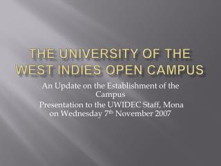 The University of the West Indies Open Campus