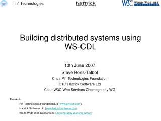 Building distributed systems using WS-CDL