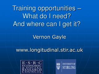 Vernon Gaylelongitudinal.stir.ac.uk