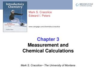 Chapter 3 Measurement and Chemical Calculations