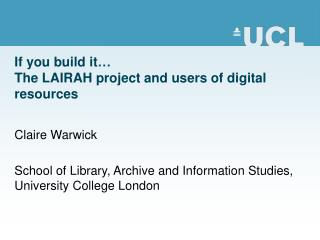 The LAIRAH project