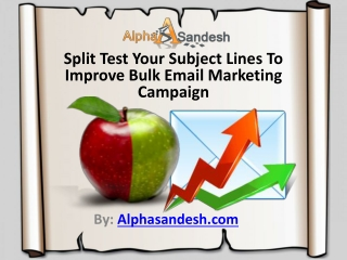 Split Test Your Subject Lines To Improve Bulk Email Campaign