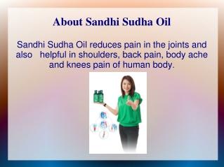 Sandhi Sudha Joint Pain Oil