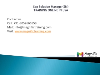 SAP Solution Manager(SM)training online in usa