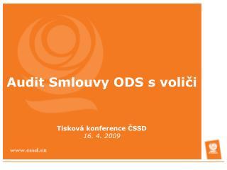 Audit Smlouvy ODS s voliči