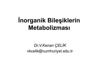 İnorganik Bileşiklerin Metabolizması