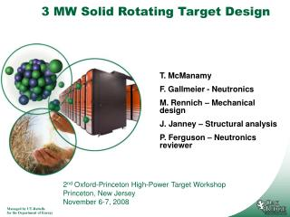 3 MW Solid Rotating Target Design