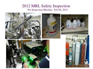 2012 MRL Safety Inspection