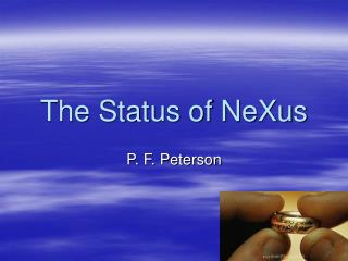 The Status of NeXus