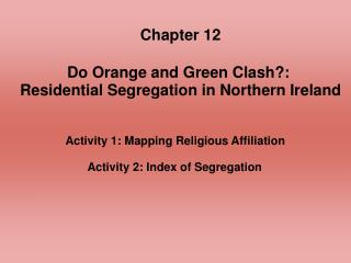 Activity 1: Mapping Religious Affiliation