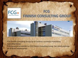FCG FINNISH CONSULTING GROUP