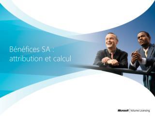 Bénéfices SA : attribution et calcul