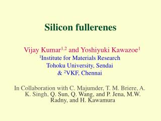 Silicon fullerenes