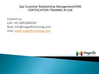 SAP Customer Relationship Managementcertification uae