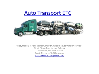 Auto Transport Etc