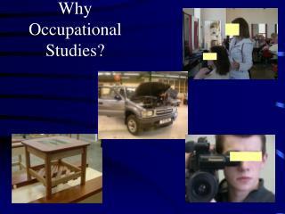 Why Occupational Studies?