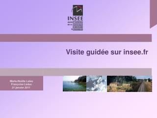 Visite guidée sur insee.fr