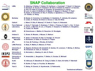 SNAP Collaboration