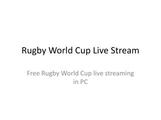 rugby world cup live stream