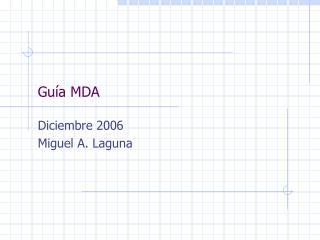 Guía MDA