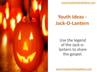 Youth Ideas - Jack-O-Lantern