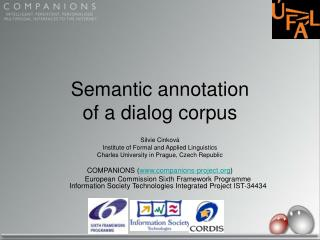 Semantic annotation of a dialog corpus