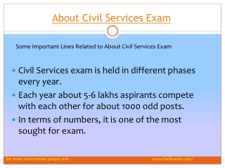 Some Logical views about civil services exam