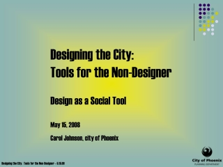 1. design on a human scale