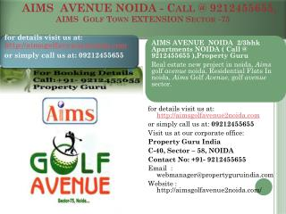 aims  avenue noida - call @ 9212455655 - aims  golf town ext
