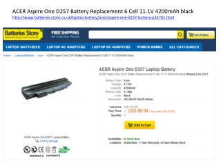 Acer Aspire one D257 battery