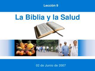 La Biblia y la Salud
