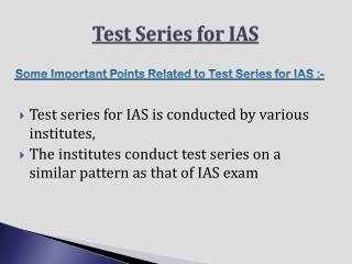Share Test Series for IAS with us