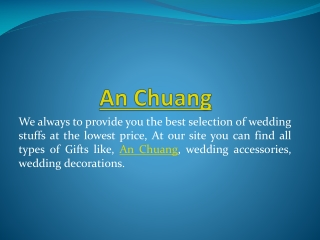 Best online shop for Wedding Accessories and Gifts