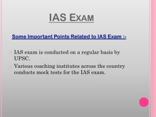 Latest knowledge about IAS Exam