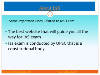 New Points Related about IAS