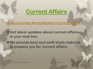 Latest information about Current Affairs