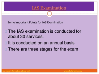 Some Local Points about IAS Examination