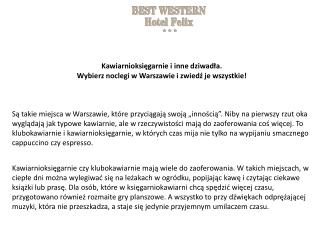 Noclegi w Warszawie