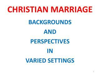 christian marriagechristian marriage