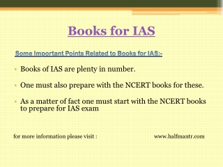 NCERT books to prepare for IAS exam