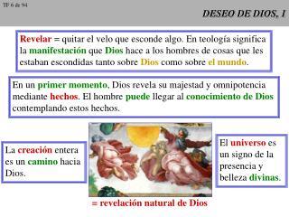 DESEO DE DIOS, 1
