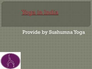 Yoga Certification India