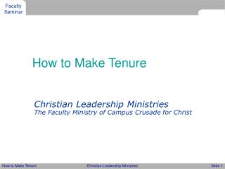 how to make tenure