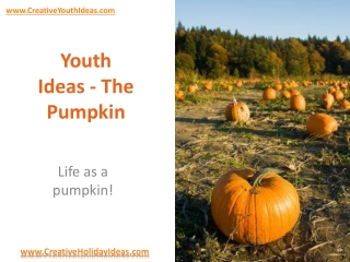 Youth Ideas - The Pumpkin