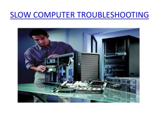 slow computer troubleshooting