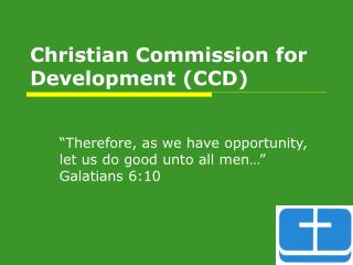 christian commission for development ccd