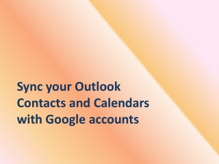 How to synchronize Outlook calendar with Google accounts