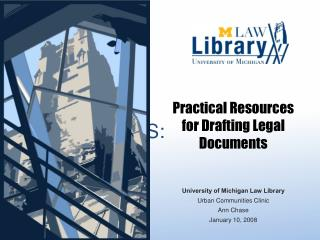 Practical Resources for Drafting Legal Documents